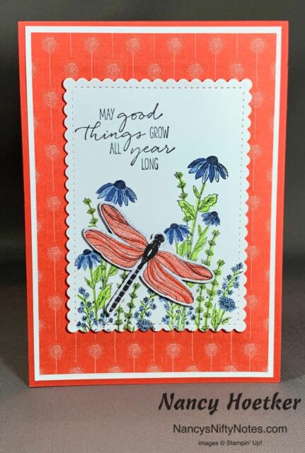 Stampin' Up! Dandy Garden Wishes Card 1