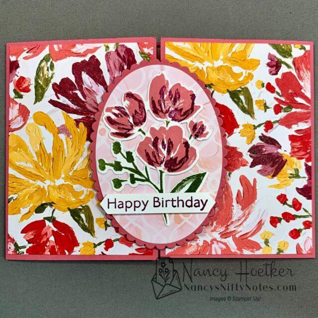 Fine Art Floral Slide and Lock Card 1