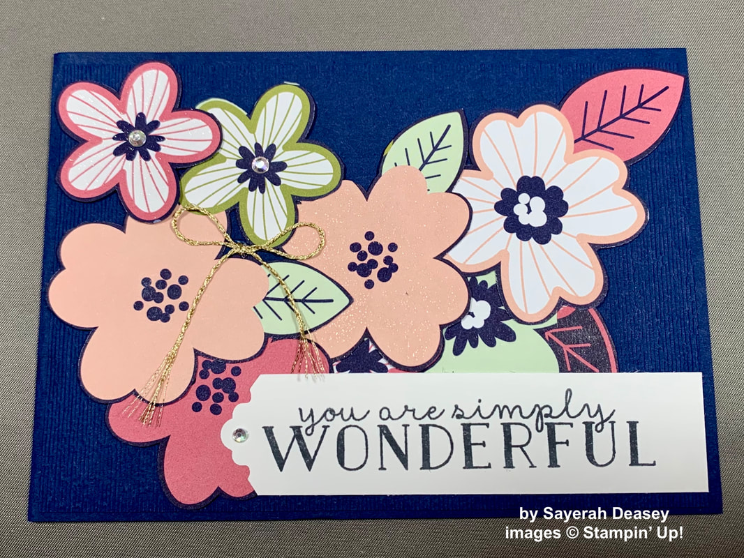Stampin' Up! Paper Blooms Fussy Cut Card 1
