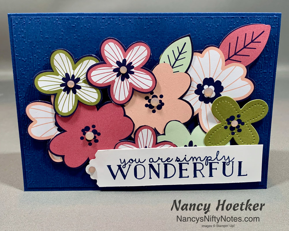 Stampin' Up! Paper Blooms Fussy Cut Card 2