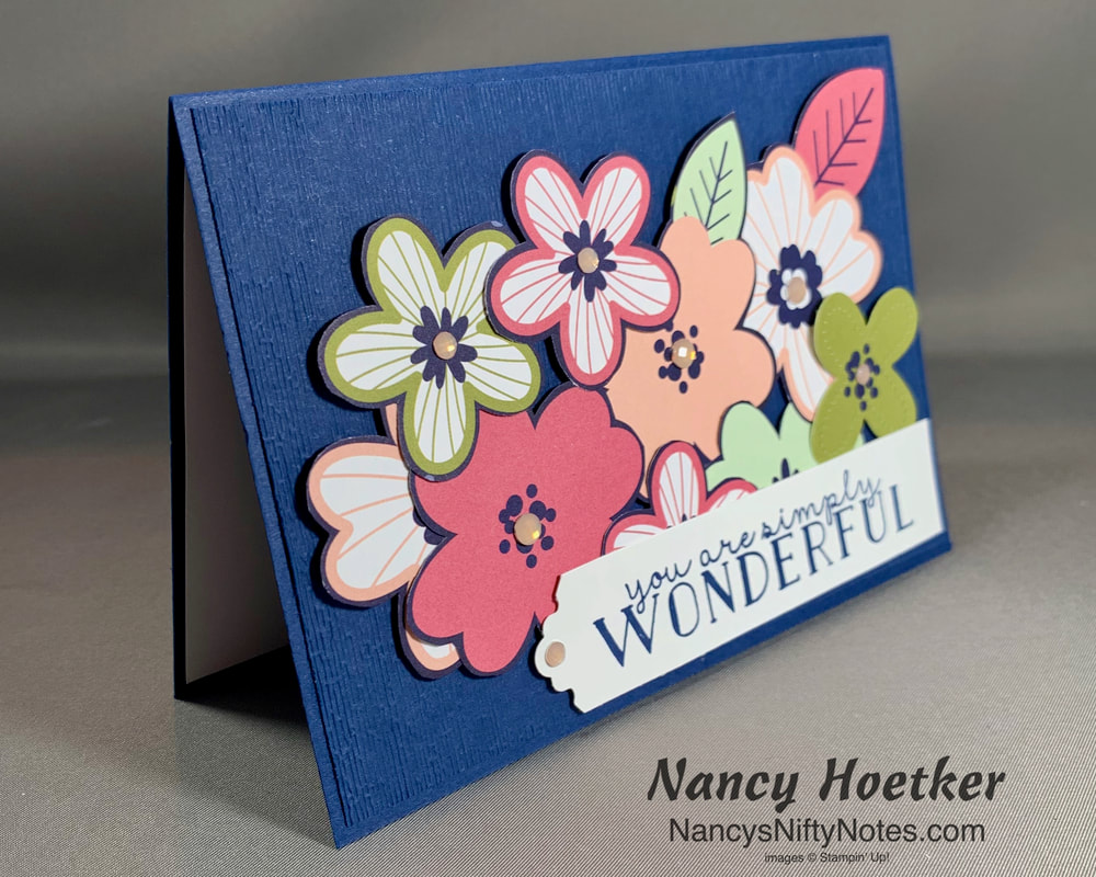 Stampin' Up! Paper Blooms Fussy Cut Card 3