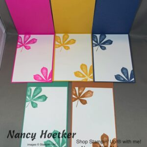 2020-2022 In Colors Love Of Leaves Cards Tutorial 2