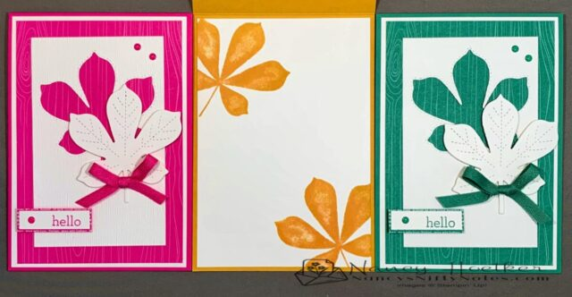 2020-2022 In Colors Love of Leaves Cards 5